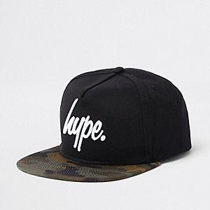 Boys Hype black camo snapback cap
