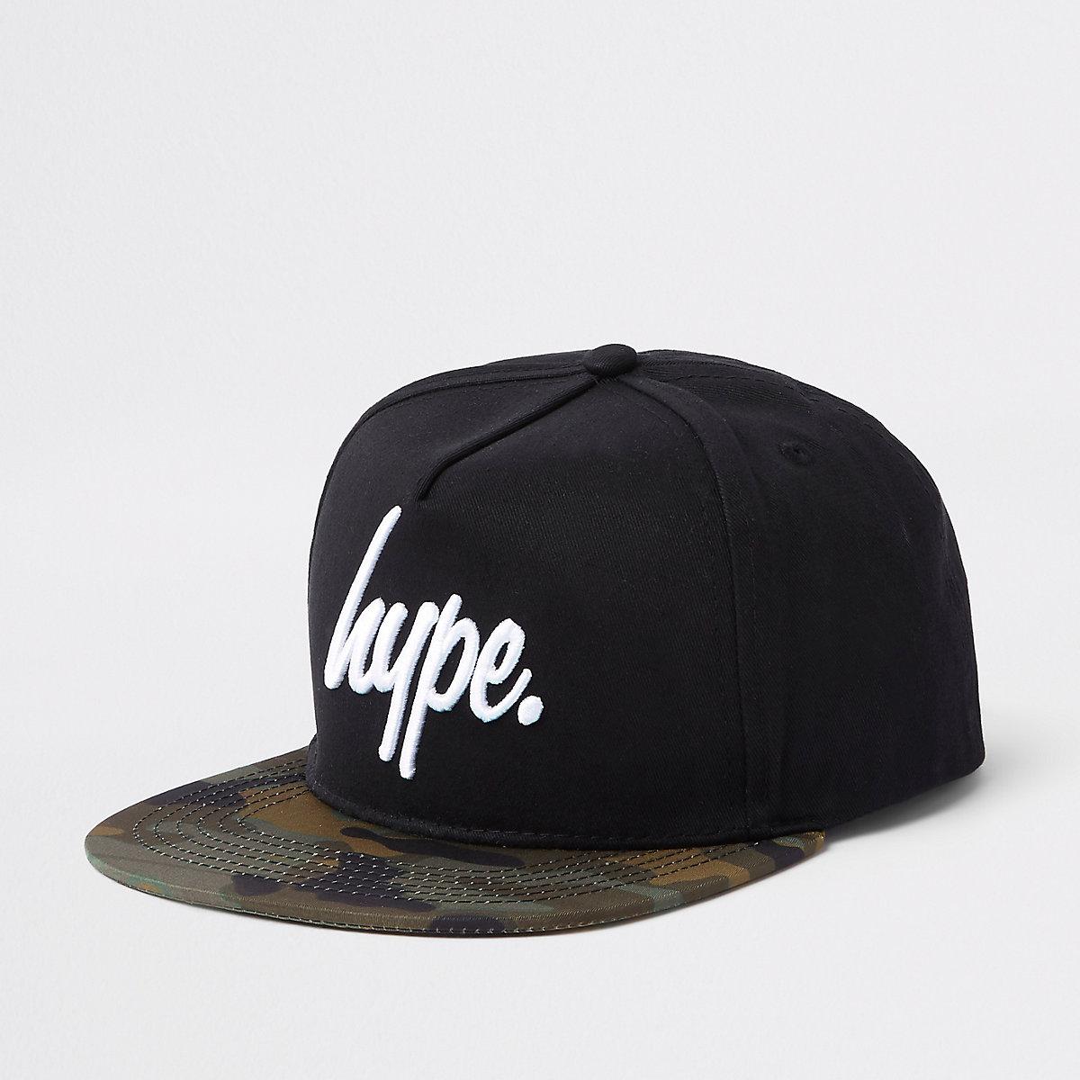 Hype – Schwarze Snapback-Kappe mit Camouflage