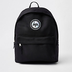 Boys Hype black hologram logo backpack