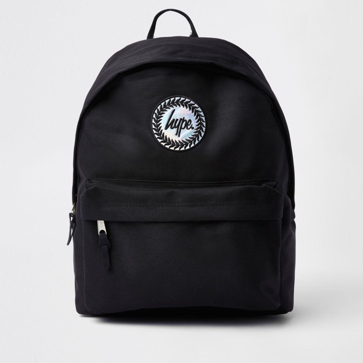 Boys Hype black hologram logo backpack