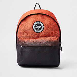 Boys Hype black orange speckled backpack