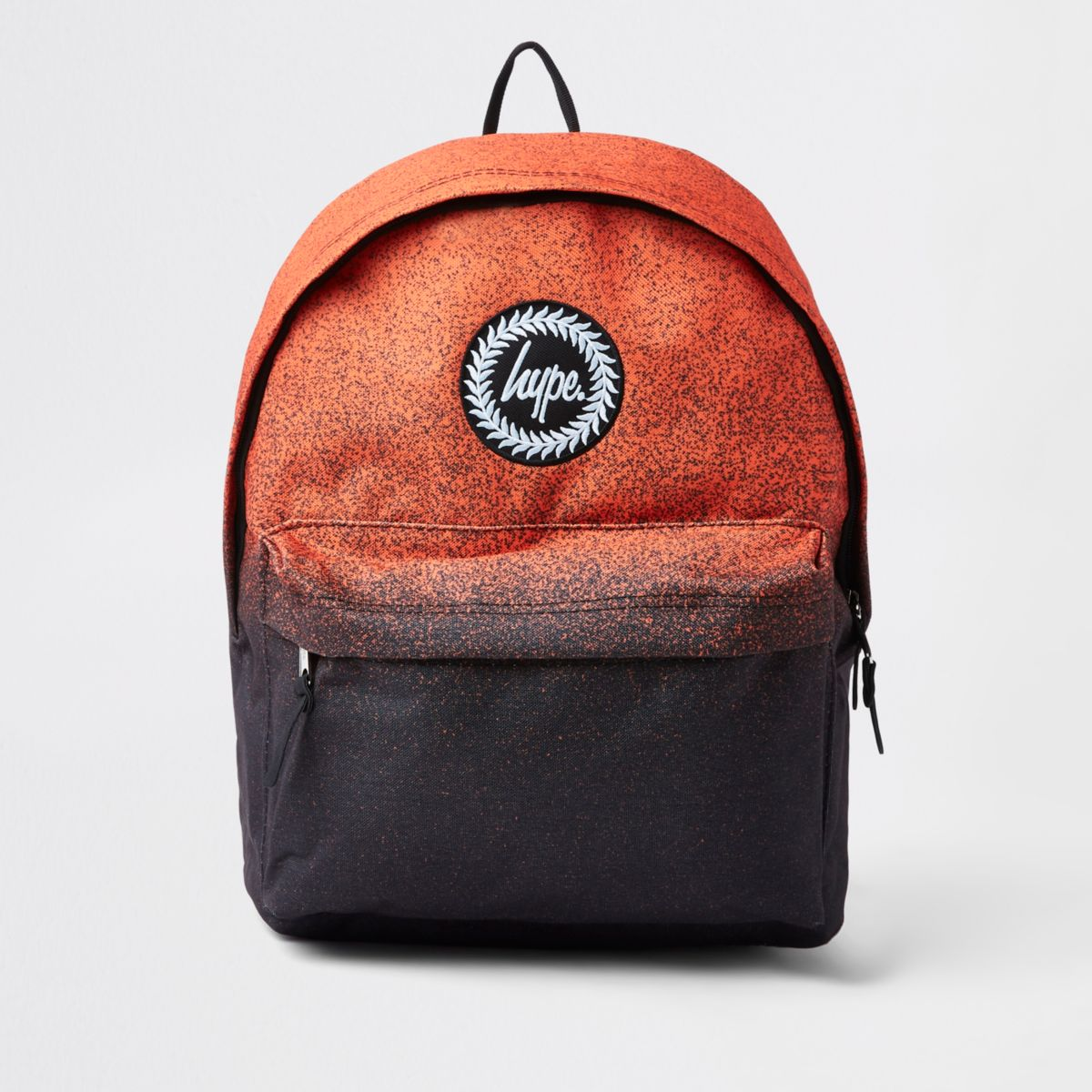 Boys Hype black orange speckled backpack