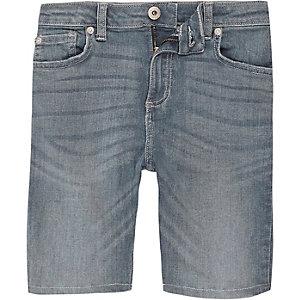 Sid - Blauwe denim short voor jongens