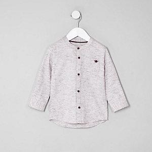 Chemise à chevrons rose mini garçon