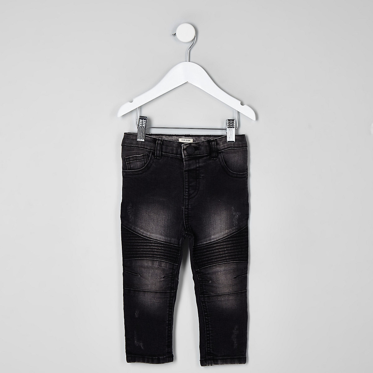 Mini boys dark demin Sid skinny biker jeans