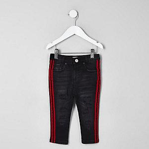 Mini - Sid - Zwarte jeans met bies voor jongens