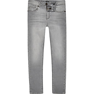 Boys grey Danny super skinny jeans
