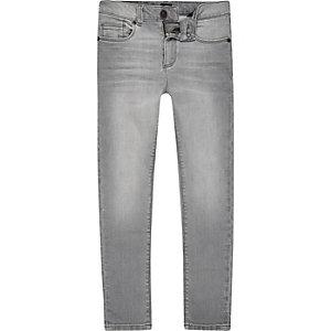 Danny - Grijze superskinny jeans voor jongens