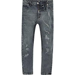 Boys dark denim Tony ripped jeans