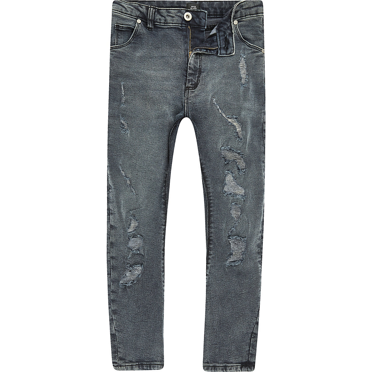 Tony – Dunkle Jeans im Used-Look