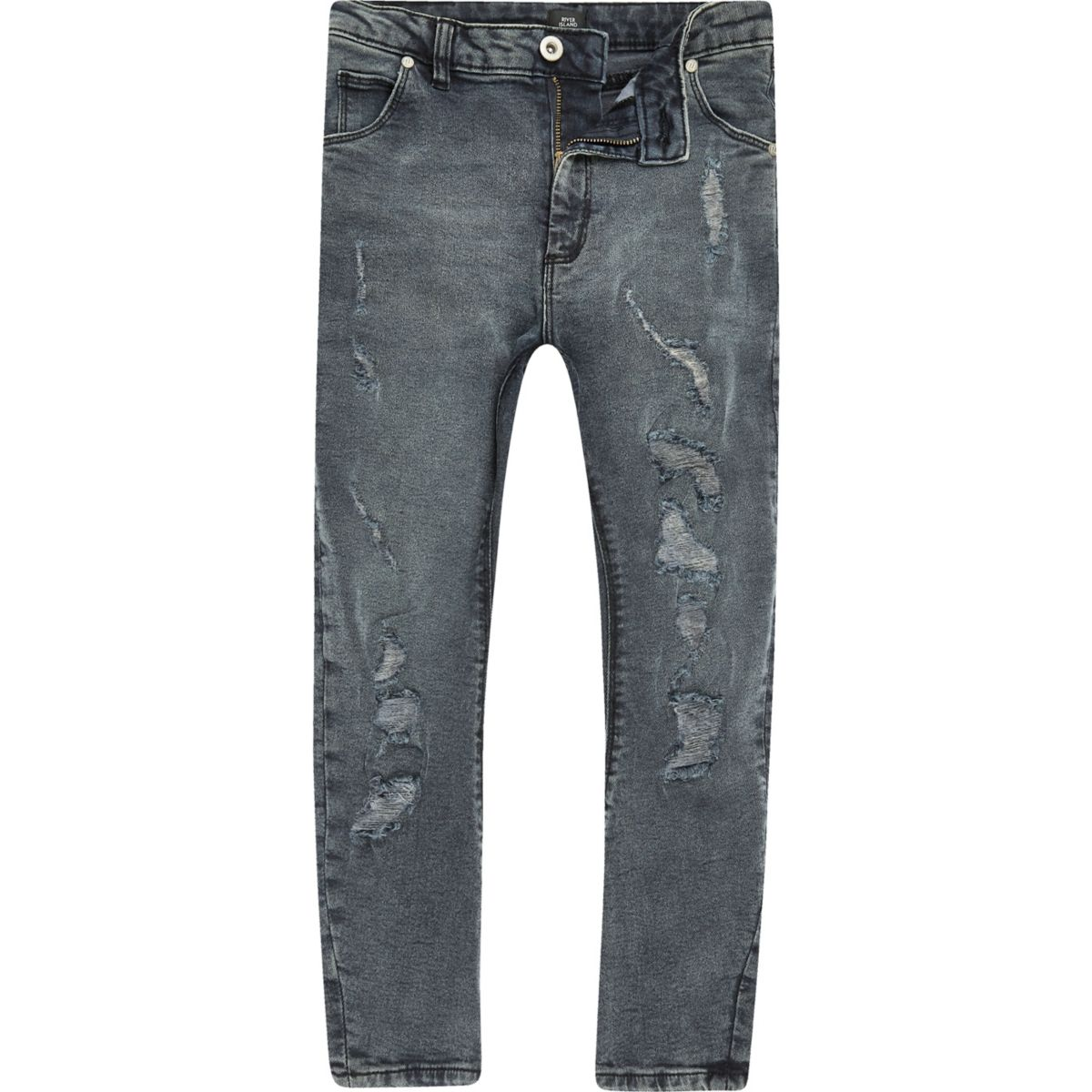 Boys dark denim Tony ripped jeans