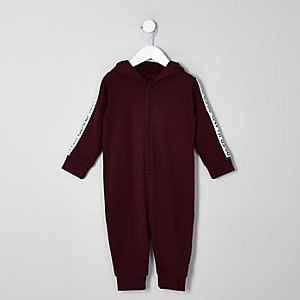 Mini boys dark red RI onesie