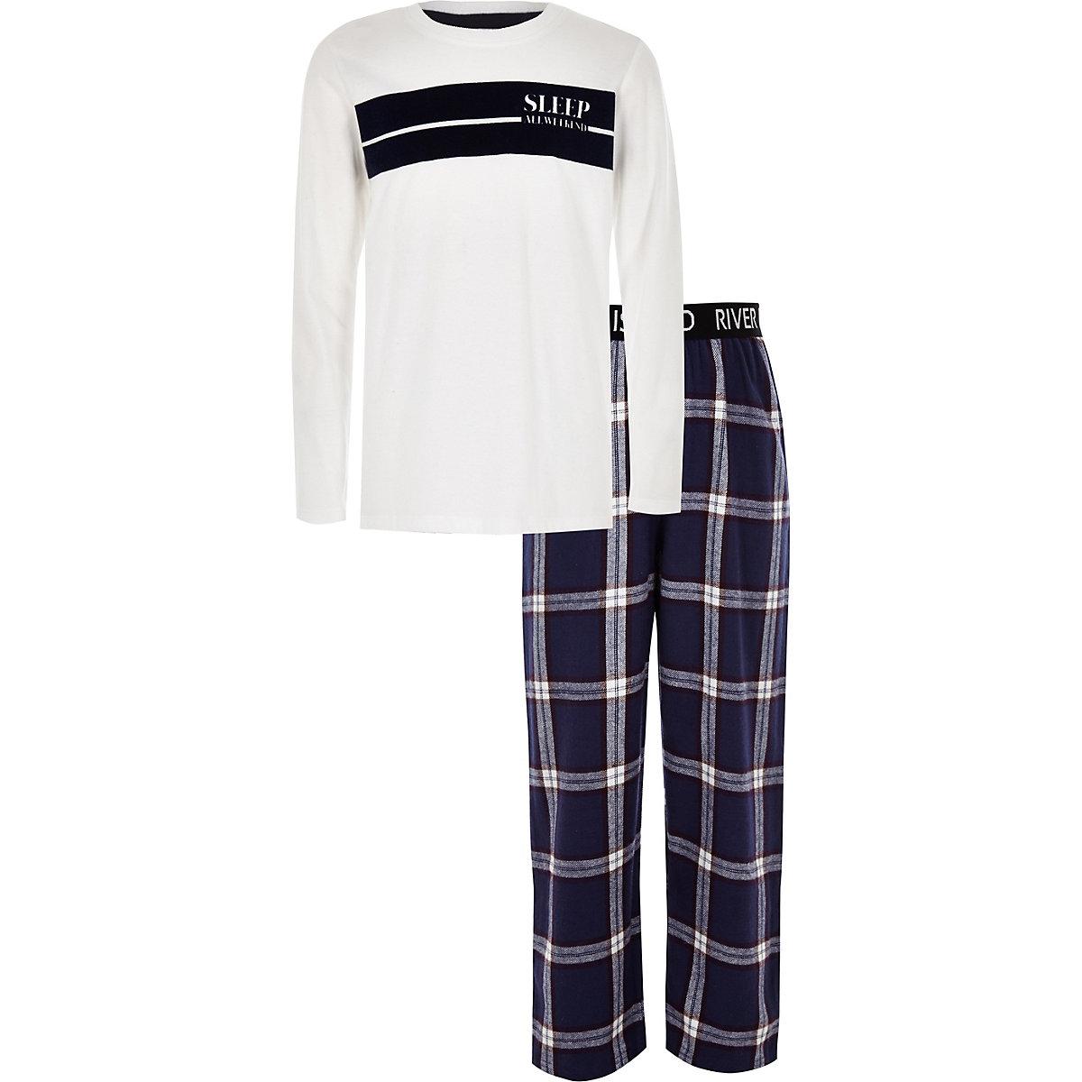 """Karierter Pyjama """"All Weekend"""""""