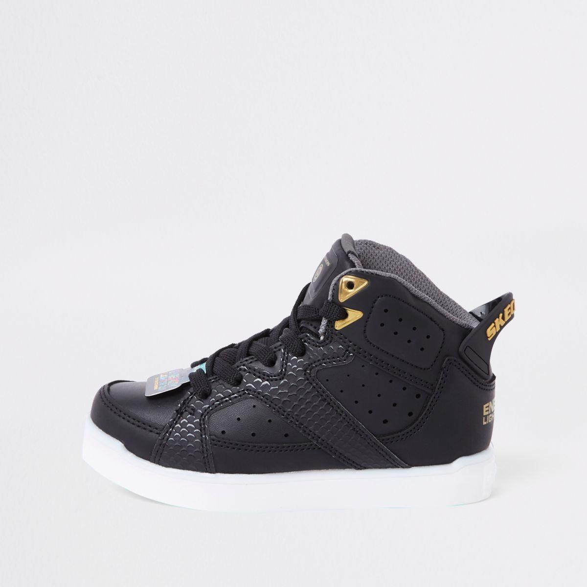 Black Skechers black light up trainers