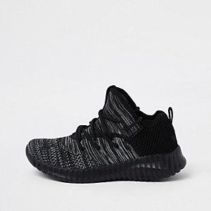 Skechers - Zwarte mesh loopschoenen voor jongens