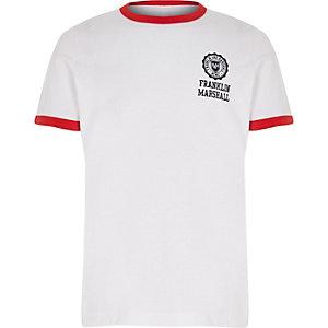 Franklin & Marshall – T-shirt blanc rétro pour garçon