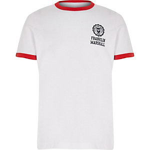 Franklin & Marshall - Wit retro T-shirt voor jongens
