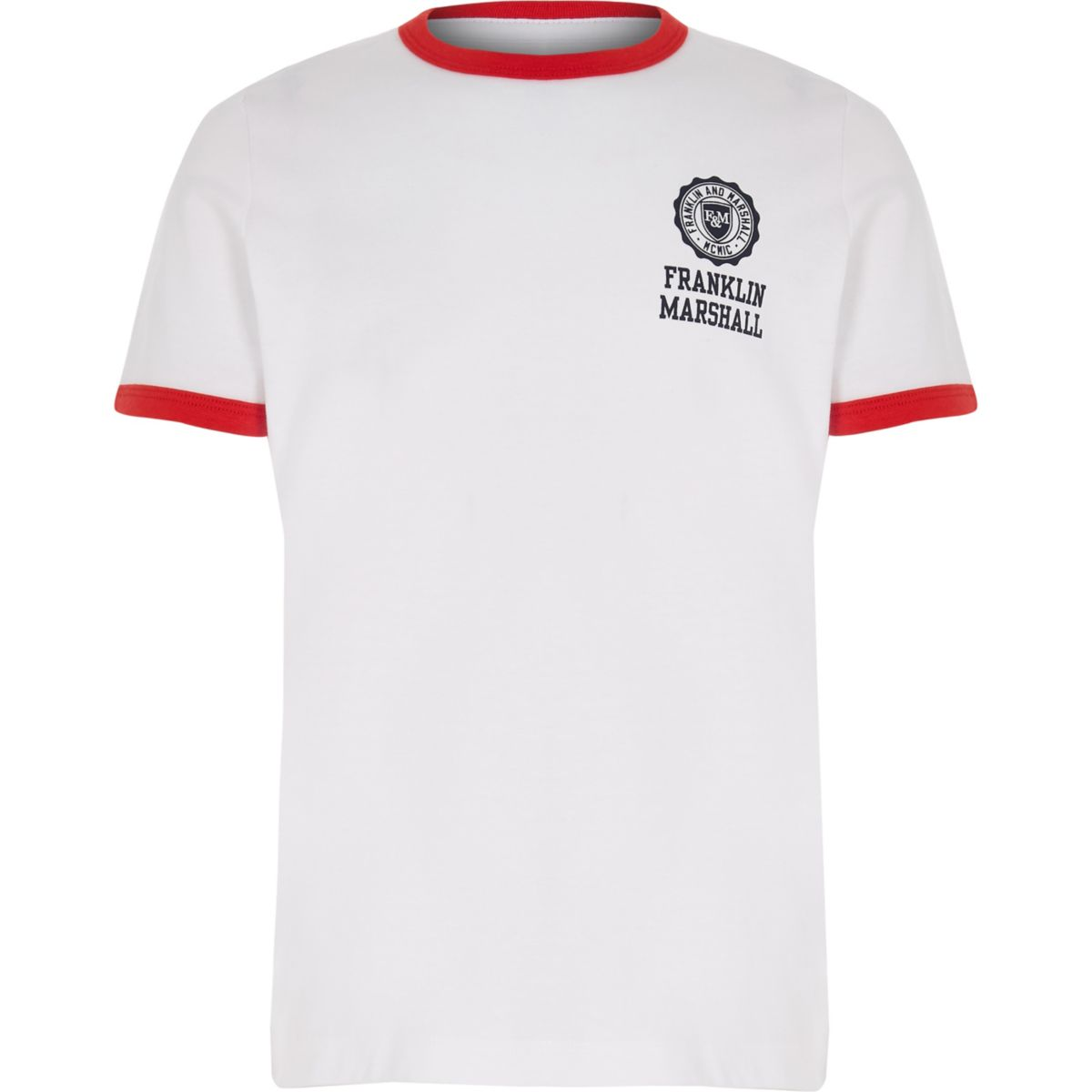 Boys Franklin & Marshall white retro T-shirt