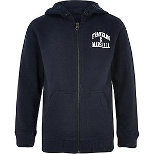 Franklin & Marshall - Marineblauwe hoodie voor jongens