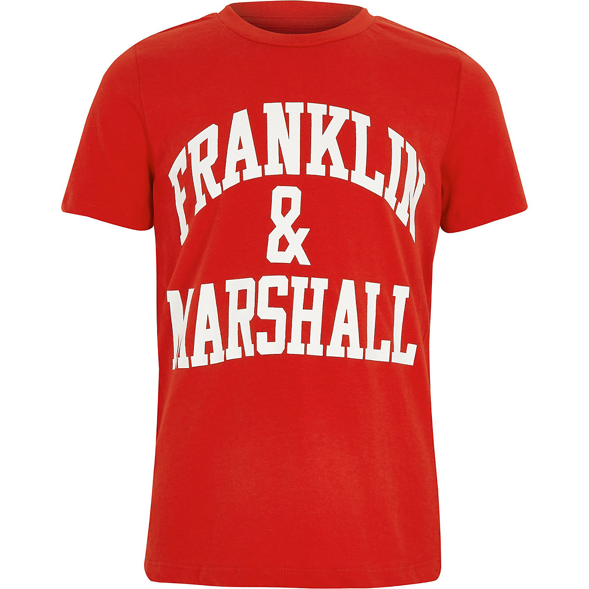 Franklin & Marshall – Rotes T-Shirt mit Print