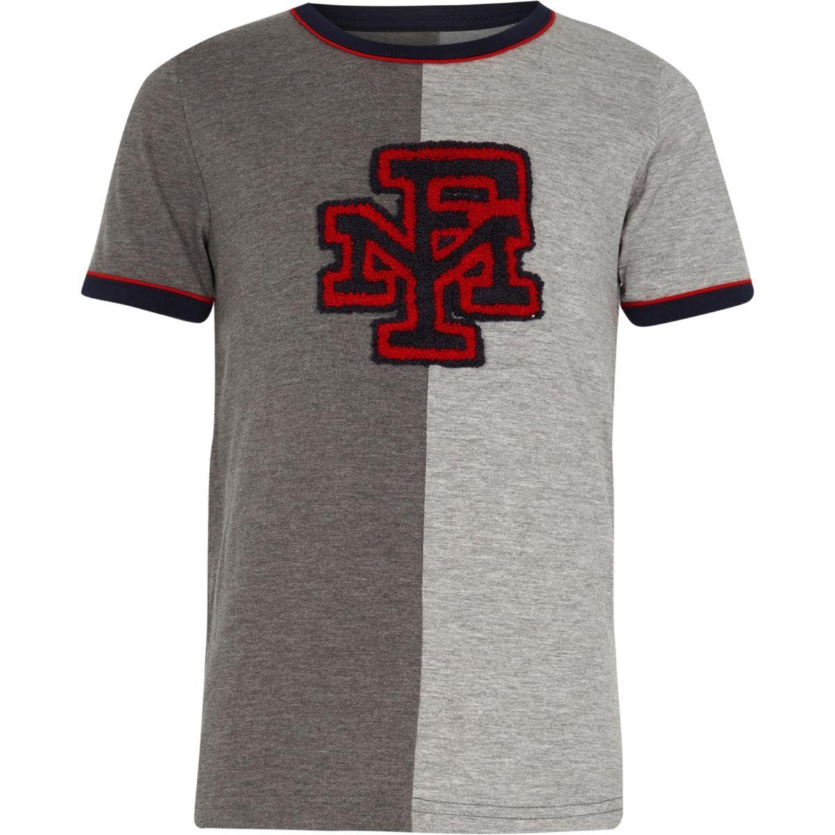 Boys Franklin & Marshall grey T-shirt