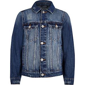 Veste en jean bleu usé pour garçon