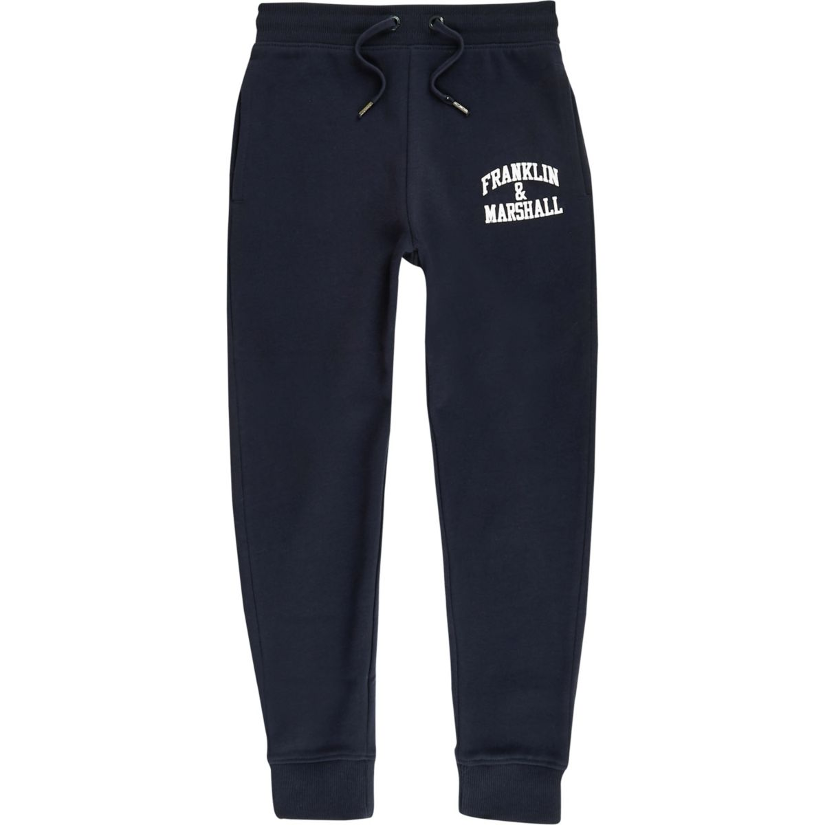 Boys Franklin & Marshall navy joggers