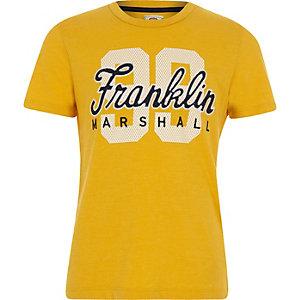 Franklin & Marshall – T-shirt à imprimé « 99 » jaune pour garçon