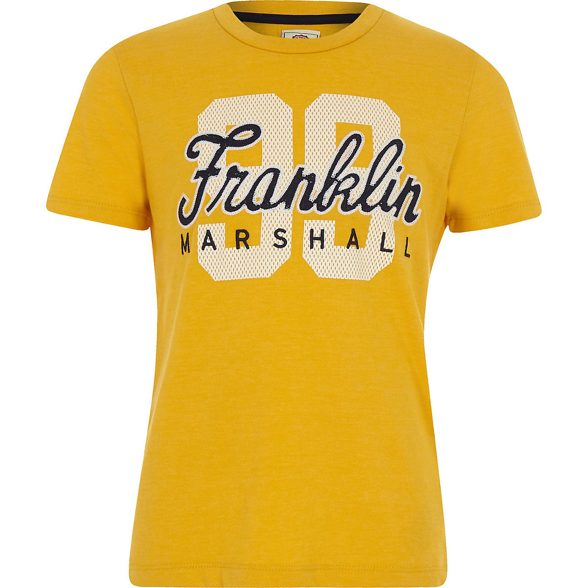 Boys Franklin & Marshall yellow '99' T-shirt