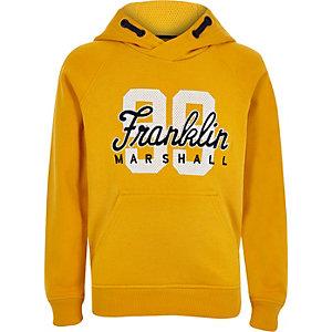 Franklin & Marshall - Sweat à capuche « 99 » jaune pour garçon