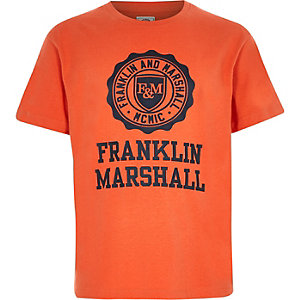 Boys Franklin & Marshall orange T-shirt