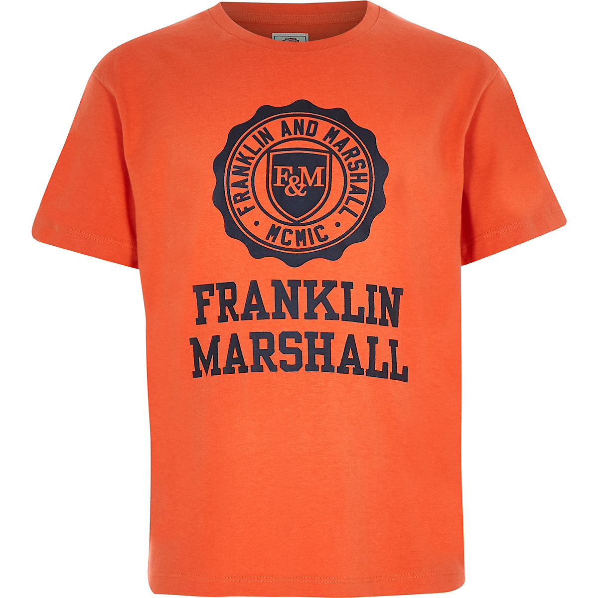 Boys Franklin & Marshall orange T-shirt