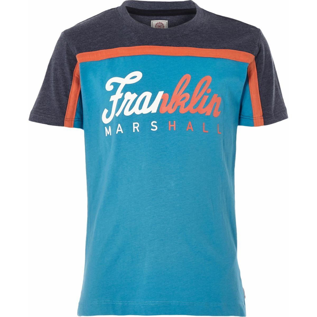 Boys Franklin & Marshall blue T-shirt