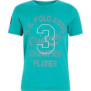 U.S. Polo Assn. – T-shirt bleu pour garçon