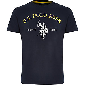 Boys U.S. Polo Assn. navy print T-shirt