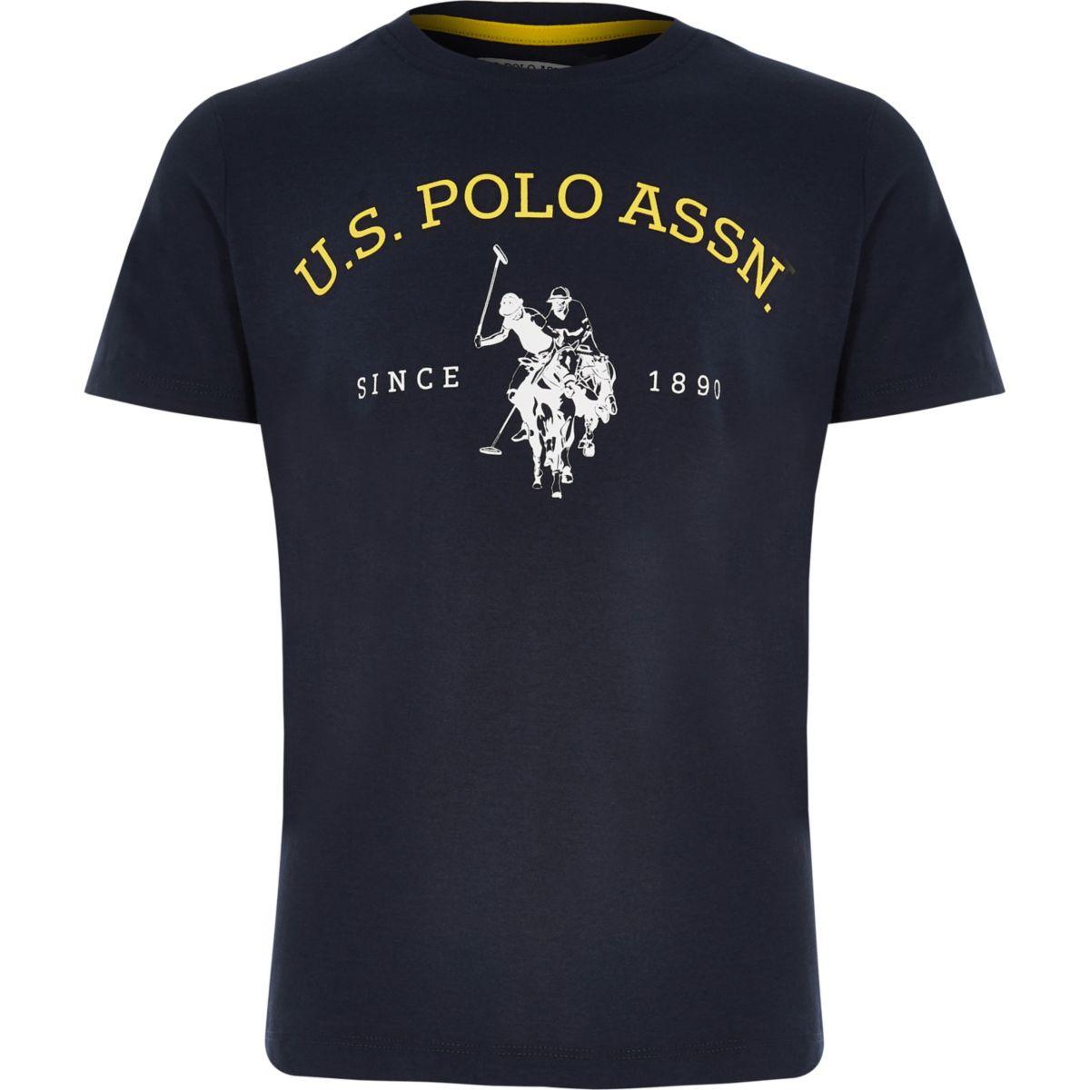 Boys U.S. Polo Assn. navy print T-shirt