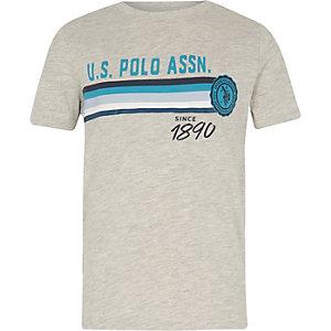 U.S. Polo Assn. – T-shirt imprimé gris pour garçon
