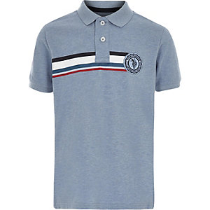 U.S. Polo Assn. - Marineblauw gestreept T-shirt voor jongens