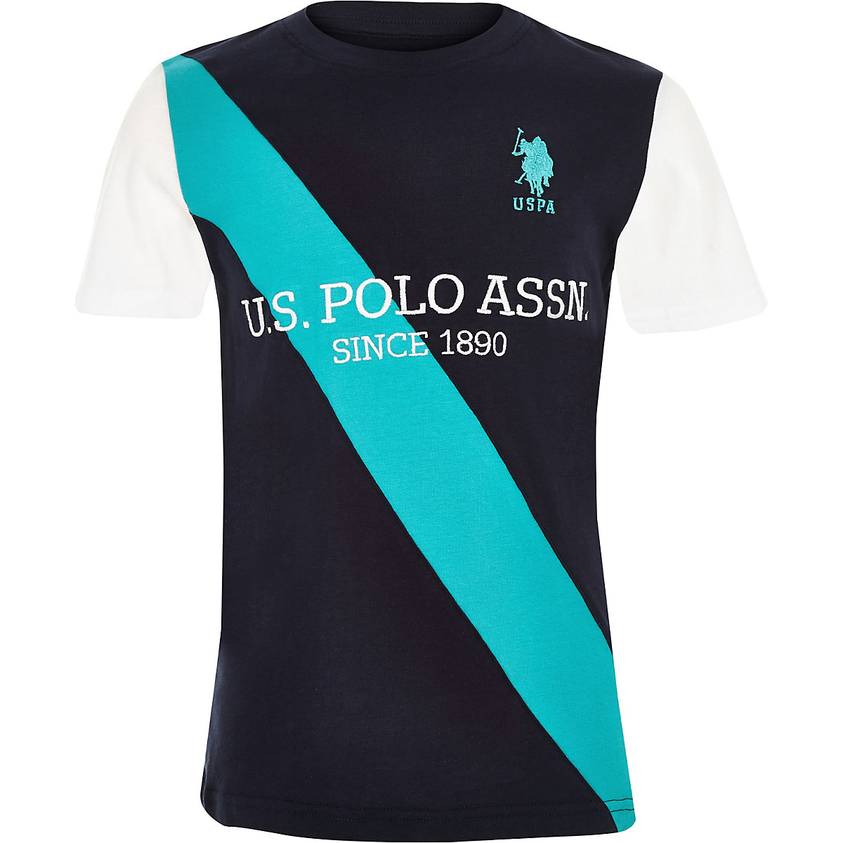 U.S. Polo Assn. – Marineblaues T-Shirt