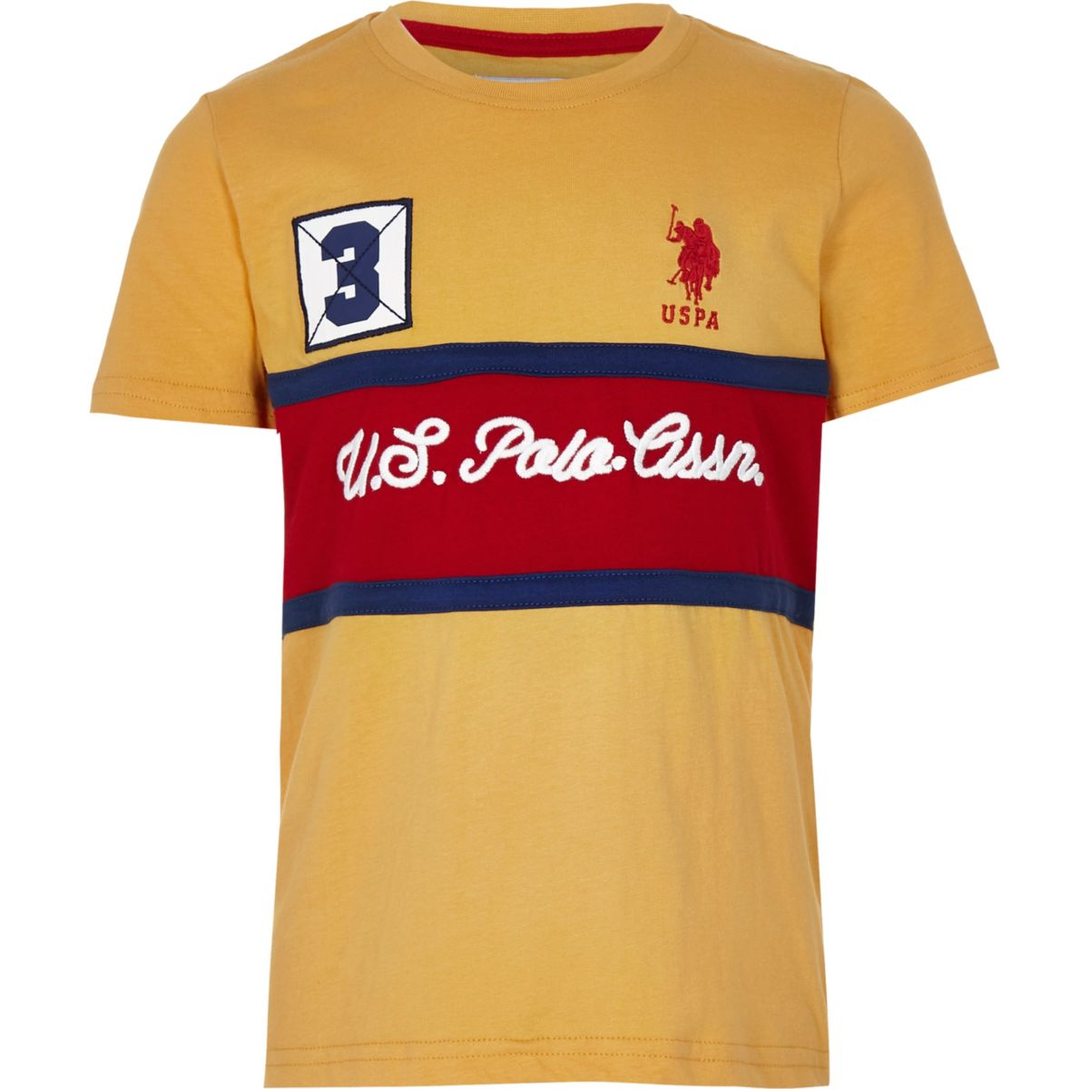 Boys U.S. Polo Assn. yellow T-shirt