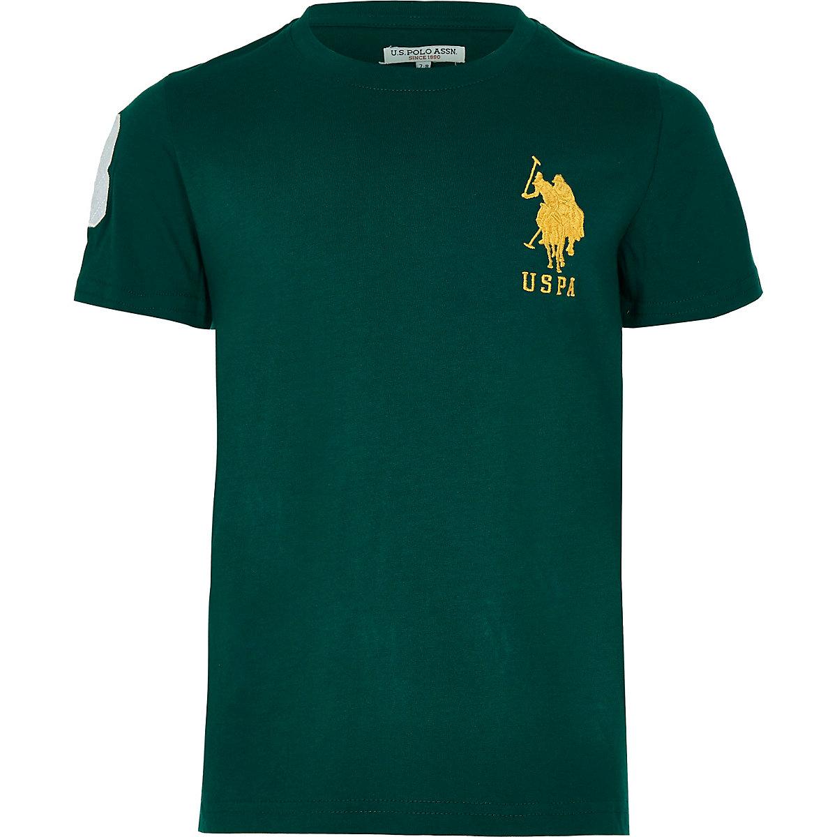 U.S. Polo Assn. – Grünes T-Shirt