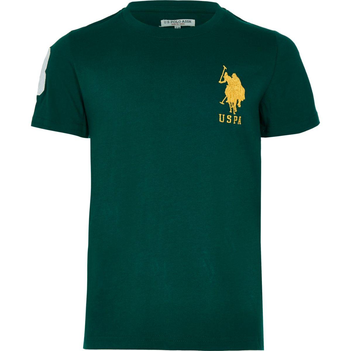 Boys U.S. Polo Assn. green T-shirt