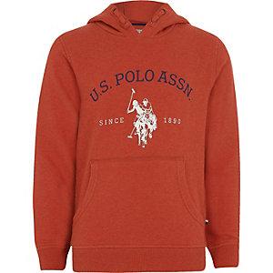 U.S. Polo Assn. - Rode hoodie voor jongens