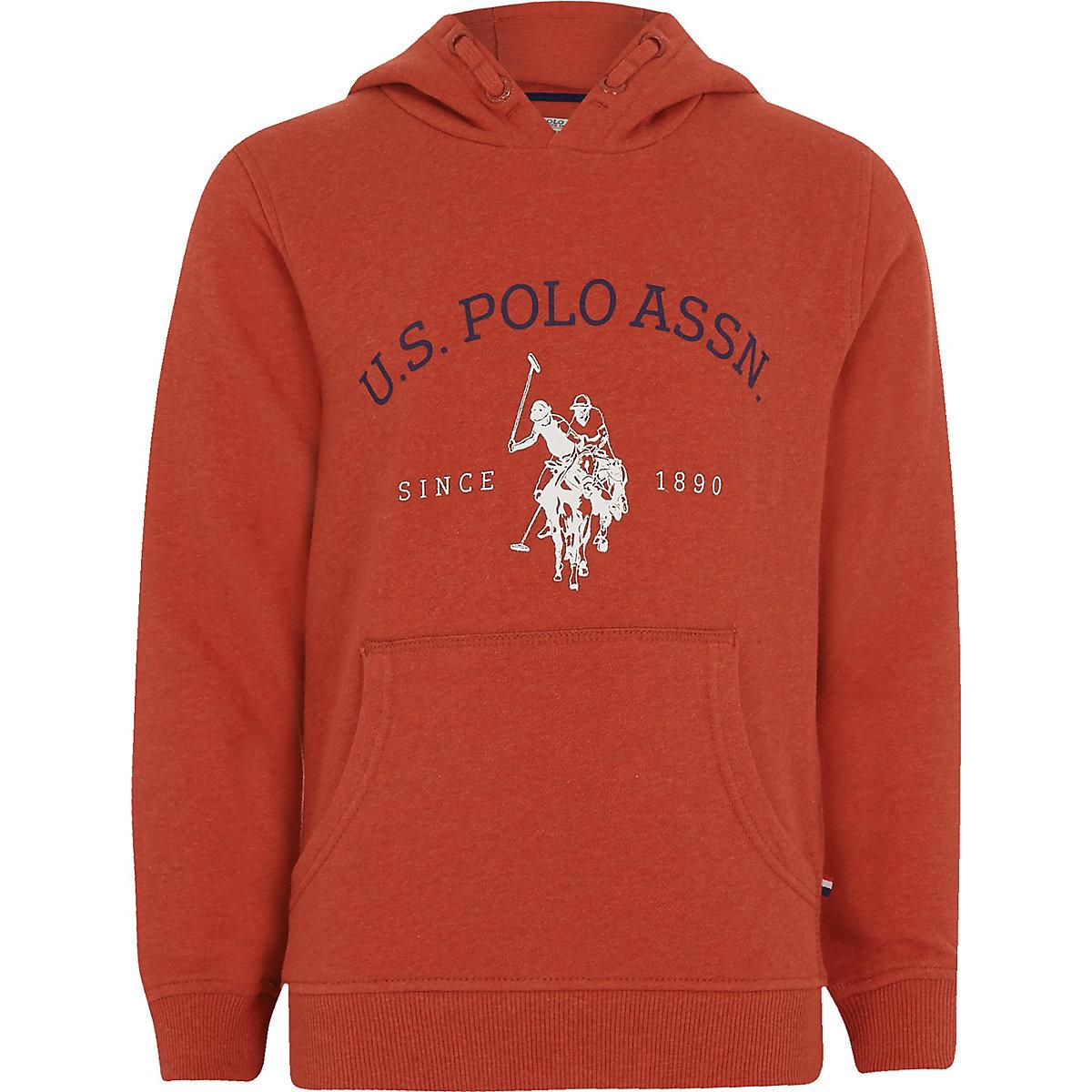 Boys red 'U.S. Polo Assn.' hoodie