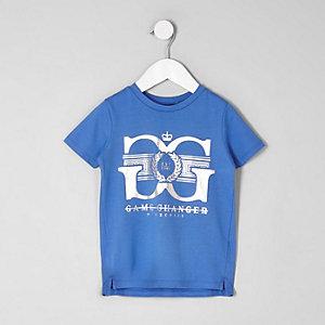 Mini - Blauw T-shirt met 'game changer'-print voor jongens