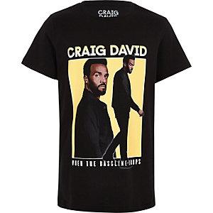 Craig David – T-shirt imprimé noir pour garçon