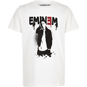 Eminem – T-shirt blanc pour garçon