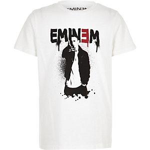 Wit T-shirt met 'Eminem'-print voor jongens