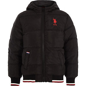 Boys U.S. Polo Assn. black puffer jacket