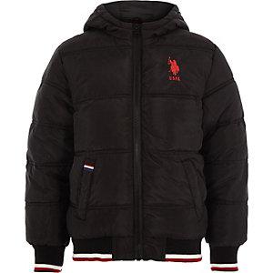 U.S. Polo Assn. - Zwart gewatteerd jack voor jongens
